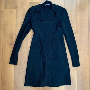 Alexander MQueen Ribbed Bodycon Dress